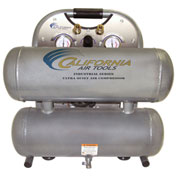 California Air Tools CAT-4610ALFC, Ultra Quiet&Oil-Free Industrial Air Comp., 4.6 Gallon, Horizontal