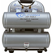 California Air Tools CAT-4620AC-22060,2HP,Ultra Quiet&Oil-Free Comp.,4 Gal,Twin Tank,1-Phase 220V