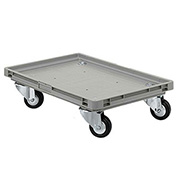 "Schaefer Mobile Base for Polypropylene Industrial Containers RO461 - 24""L x 15""W x 5""H - Gray"
