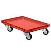 """Schaefer Mobile Base for Polypropylene Industrial Containers RO461 -24""""L x 15""""W x 5""""H - Red"""