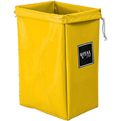 Hamper Bag, Yellow Vinyl, Standard Pocket
