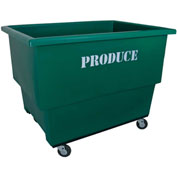 Royal Basket-Produce Cart, 26.5 Cu Ft, Green, With Shelf and Decals - R18-GNX-P2A-4HNN