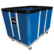 "18 BU-Standard-Duty Basket Trucks By Royal - Vinyl Liner - 32""Wx48""Dx36""H 4 Swivel Casters-Blue"