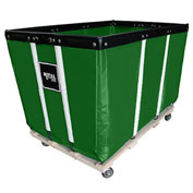 "18 BU-Standard-Duty Basket Trucks By Royal - Vinyl Liner - 32""Wx48""Dx36""H 4 Swivel Casters-Green"
