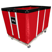 "18 BU-Standard-Duty Basket Trucks By Royal - Vinyl Liner - 32""Wx48""Dx36""H 4 Swivel Casters-Red"
