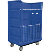 Royal Basket-Bulk Turnabout Truck, 48 Cu Ft, Blue, Wire Shelves, 2 Rg/2 Sw - R48-BLX-TAC-6UNN