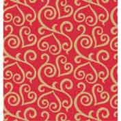 """Gift Wrap Paper, Scrolled Hearts, 100'L X 24""""W"""