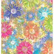 """Gift Wrap Paper, Gilded Daisies, 417'L X 30""""W"""