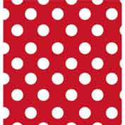 """Gift Wrap Paper, Cheery Dots, 100'L X 24""""W"""
