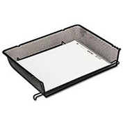 Wire mesh self-stacking side load letter tray, black, 10-1/8w x 14-1/4d x 3h