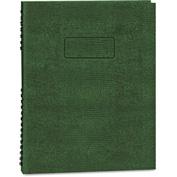 "Blueline® Exec Wirebound Notebook A10200EGRN, 8-1/2"" x 11"", Green Cover, 100 Sheets/Pad"