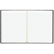"Blueline® EcoLogix Notebook A7EBLK, 7-1/4"" x 9-1/4"", Black Cover, 75 Sheets/Pack"