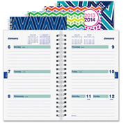 "Rediform Twin-wire Weekly Academic Planner 8"" x 5-5/16"" x 3/8"" Assorted"