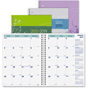 "Rediform Blossom Academic Monthly Planner 11"" x 5/16"" x 8-13/16"" Floral"