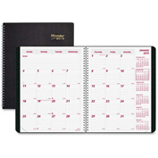 "Rediform Duraflex Dated Monthly Planner 9-5/16"" x 7-13/16"" x 5/16"" Black"