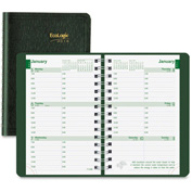 "Rediform Ecologix Twin-wire Weekly Planner 8-3/8"" x 1/2"" x 5-13/16"" Green"