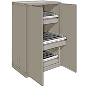 "3 Drawer Tool Storage Cabinet for HSK 63 - 36""Wx24""Dx60""H Light Gray"
