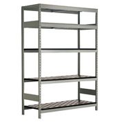 "5 Shelf High-Density Storage for Taper 40 - 72""Wx18""Dx87""H Light Gray"