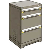 "Rousseau Metal Heavy Duty Modular Drawer Cabinet 3 Drawer Counter High 24""W - Light Gray"