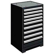 "Rousseau Metal Heavy Duty Modular Drawer Cabinet 9 Drawer Counter High 24""W - Black"