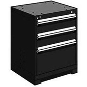 "Rousseau Metal Heavy Duty Modular Drawer Cabinet 3 Drawer Bench High 24""W - Black"