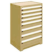 "Rousseau Metal Heavy Duty Modular Drawer Cabinet 8 Drawer Counter High 30""W - Beige"