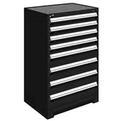 "Rousseau Metal Heavy Duty Modular Drawer Cabinet 8 Drawer Counter High 30""W - Black"