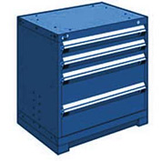 "Rousseau Metal Heavy Duty Modular Drawer Cabinet 4 Drawer Bench High 30""W - Avalanche Blue"