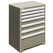 "Rousseau Metal Heavy Duty Modular Drawer Cabinet 7 Drawer Counter High 30""W - Light Gray"