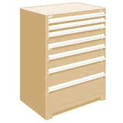 "Rousseau Metal Heavy Duty Modular Drawer Cabinet 7 Drawer Counter High 36""W - Beige"