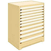 "Rousseau Metal Heavy Duty Modular Drawer Cabinet 11 Drawer Counter High 36""W - Beige"