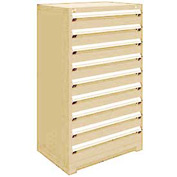 "Rousseau Metal Heavy Duty Modular Drawer Cabinet 9 Drawer Full Height 36""W - Beige"