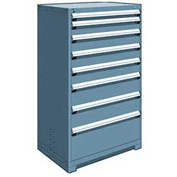 "Rousseau Metal Heavy Duty Modular Drawer Cabinet 8 Drawer Full Height 36""W - Everest Blue"