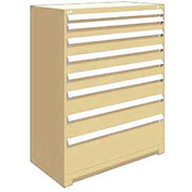 "Rousseau Metal Heavy Duty Modular Drawer Cabinet 8 Drawer Full Height 48""W - Beige"