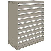 "Rousseau Metal Heavy Duty Modular Drawer Cabinet 9 Drawer Full Height 48""W - Light Gray"