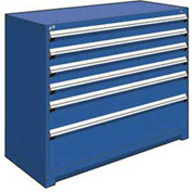 "Rousseau Metal Heavy Duty Modular Drawer Cabinet 6 Drawer Counter High 60""W - Avalanche Blue"