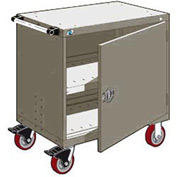 "Rousseau Metal Heavy-Duty Mobile Modular Drawer Cabinet - 30""Wx27""Dx37-1/2""H Light Gray"