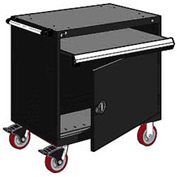 "Rousseau Metal Heavy-Duty Mobile Modular Drawer Cabinet - 36""Wx18""Dx37-1/2""H Black"