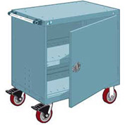 "Rousseau Metal Heavy-Duty Mobile Modular Drawer Cabinet - 36""Wx18""Dx37-1/2""H Everest Blue"