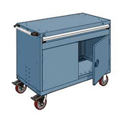 """Rousseau Metal 1 Drawer Heavy-Duty Mobile Modular Drawer Cabinet - 48""""Wx24""""Dx37-1/2""""H Everest Blue"""