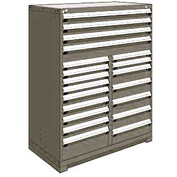 "Rousseau Metal 20 Drawer Full Height 48""W Multi-Drawer Cabinet - Light Gray"