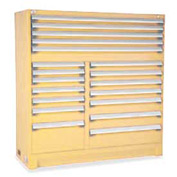 "Rousseau Metal 19 Drawer Full Height 60""W Multi-Drawer Cabinet - Beige"