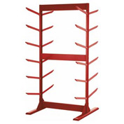 "Double Sided Stock Rack 45""Wx42""Dx85""H W/Anchoring Kit 6 Level Red"