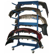 "Double Sided Stock Rack 45""Wx42""Dx91""H Mobile 6 Level Avalanche Blue"