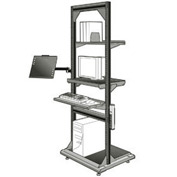 "Computer Multi-purpose Stand - 32""Wx27""Dx85""H Light Gray"