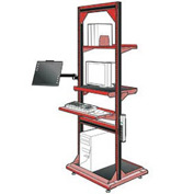 "Computer Multi-purpose Stand - 32""Wx27""Dx85""H Red"
