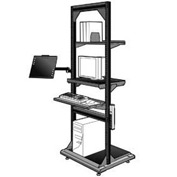 "Computer Multi-purpose Stand - 32""Wx27""Dx85""H Black"