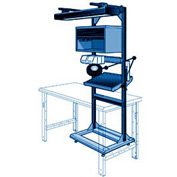 "Electronic Multi-purpose Stand - 32""Wx27""Dx85""H Avalanche Blue"