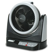 "Royal Sovereign 10"" Dual Oscillating Fan RAC-HV10BR - 5 Wing Blade, Black/Silver"