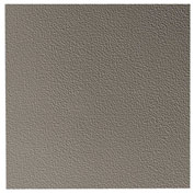 "Hammered Design Rubber Tile 19.69"" x 19.69"" x .125"" Pewter"